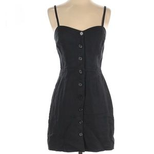 WILFRED ARITZIA 100% Linen Black Button Up Dress